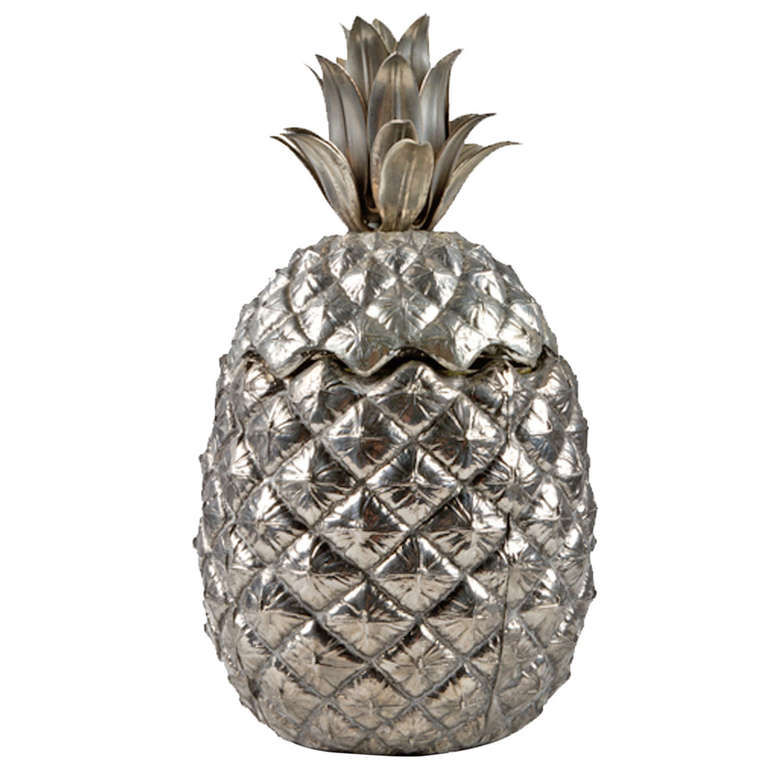 pineapple ice bucket by mauro manetti italy 1970s at 1stdibs