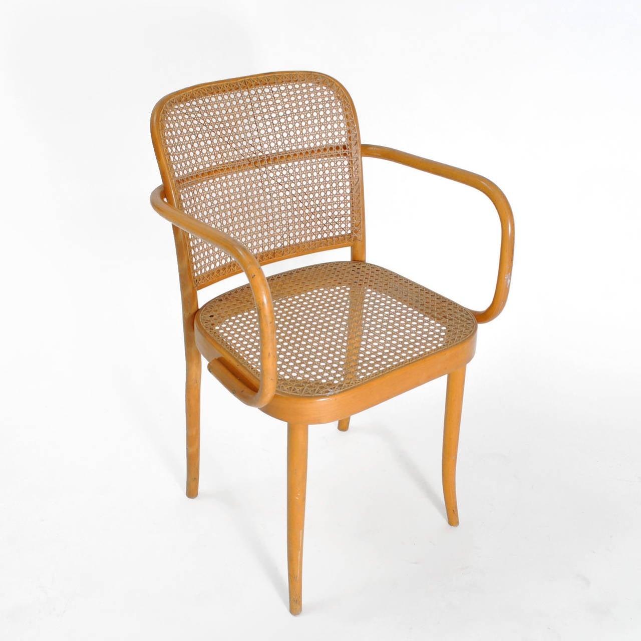 Nice Pair Of Chairs Model Prague Designed By Josef Hoffman 2
