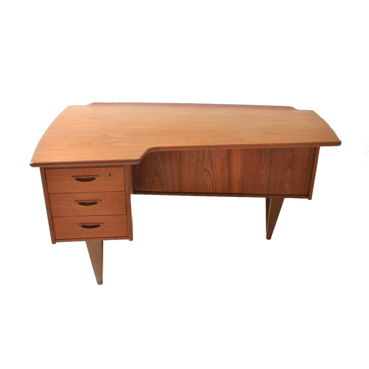 Danish Boomerang Table Desk by Peter Løvig Nielsen For Sale