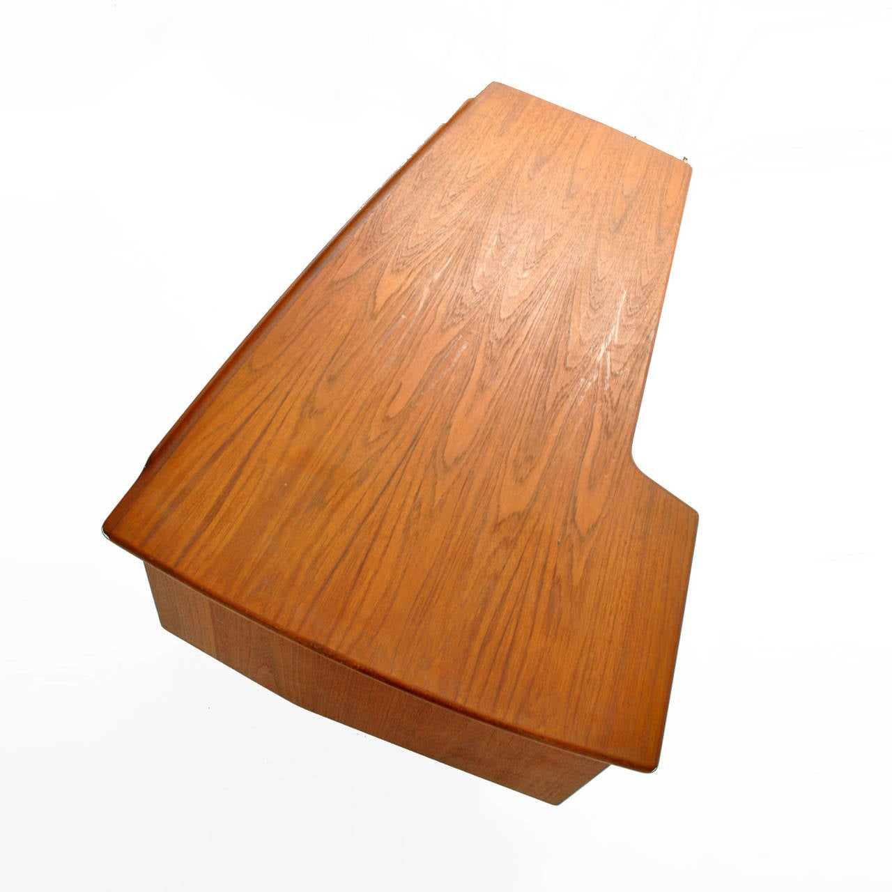 Teak Boomerang Table Desk by Peter Løvig Nielsen For Sale