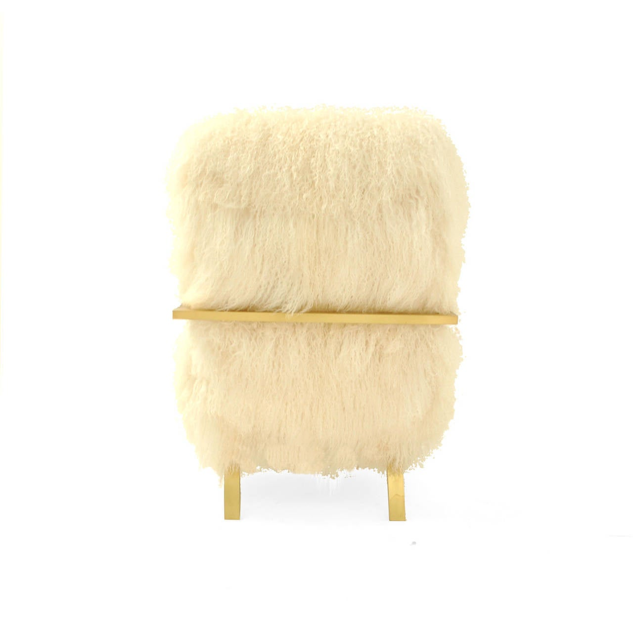 Brass Mongolian Goat Armchairs For Sale