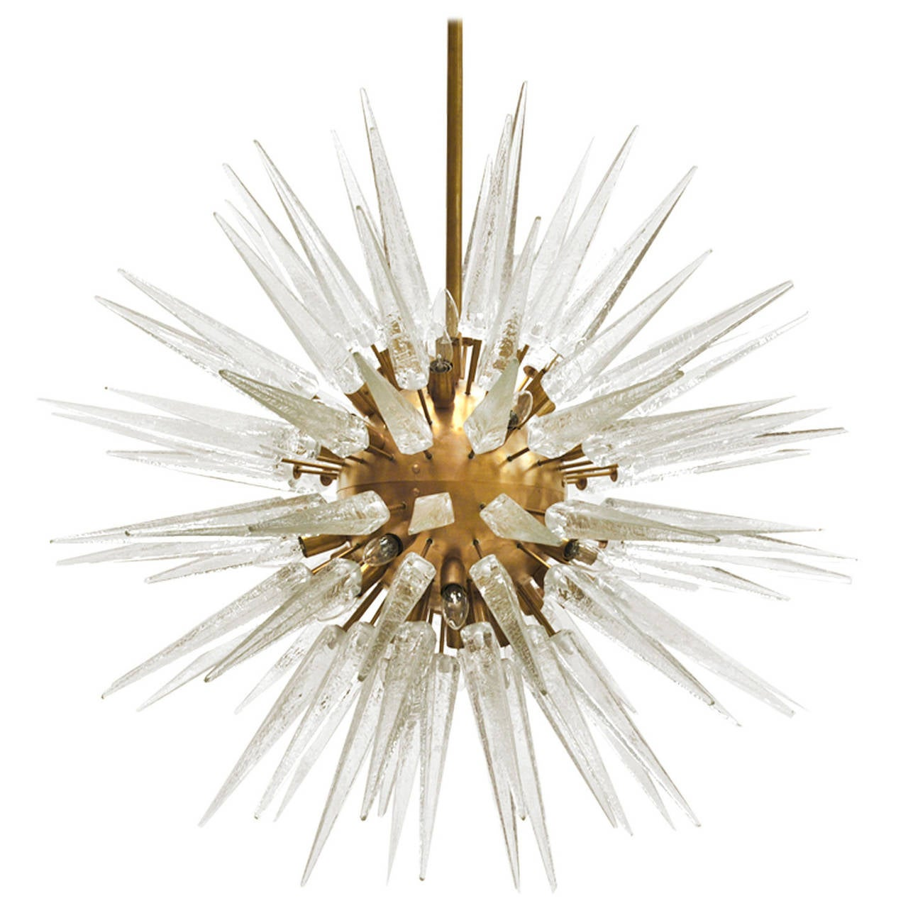 Suspension Lamp Made in Murano in Star Form For Sale
