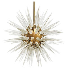 Suspension Lamp Made in Murano in Star Form