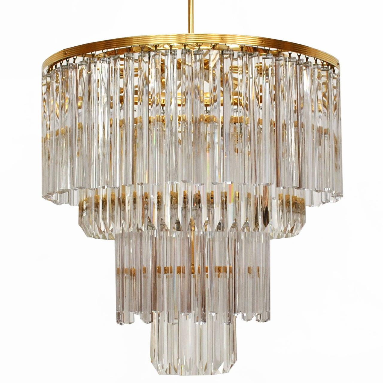 Venini Glass Suspension Lamp For Sale