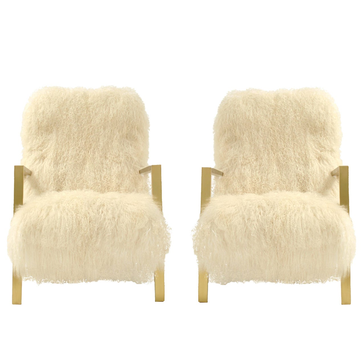 Mongolian Goat Armchairs For Sale