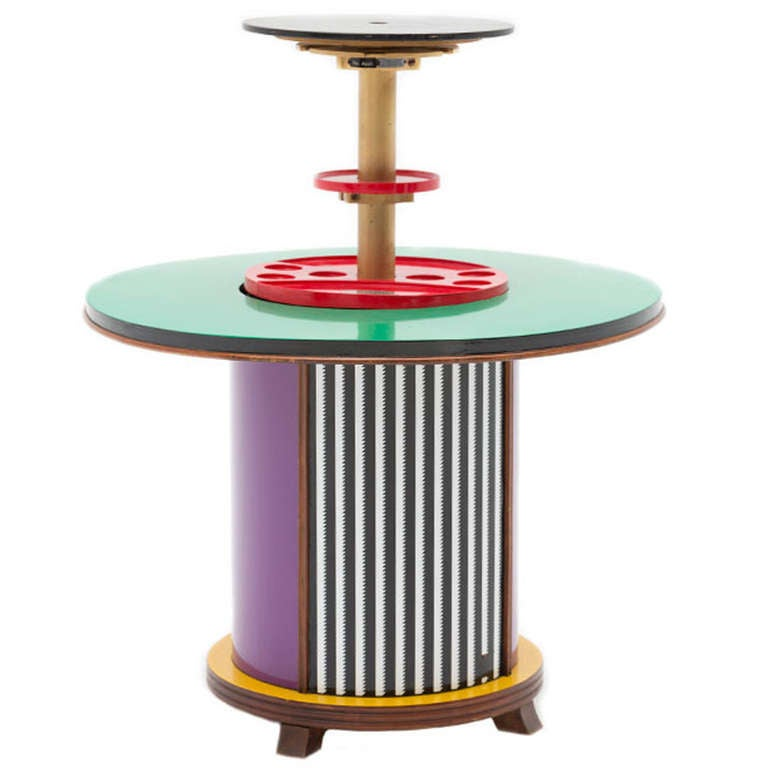 Bar Cabinet Designed by Doro Cundo and Edited by Singer & Sons, Italy, 1980s For Sale