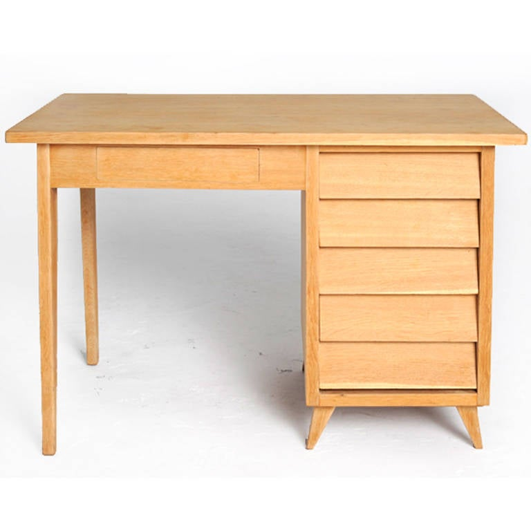 solid oak desk at 1stdibs