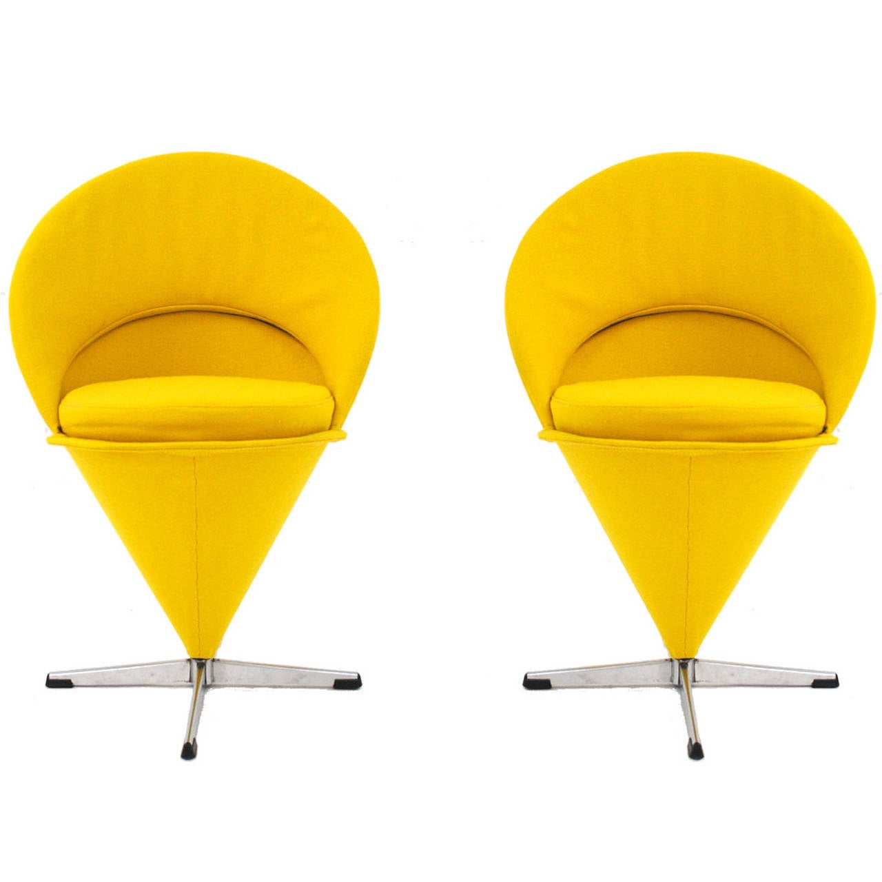 Pair of cone chairs designed by verner panton at 1stdibs - Who designed the panton chair ...