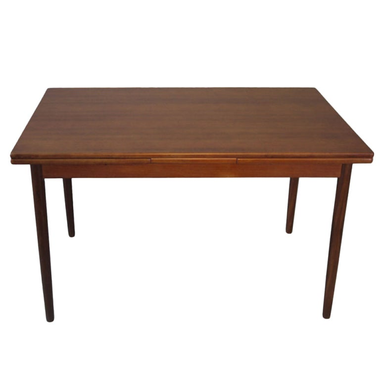 Danish modern 7ft teak dining table at 1stdibs for Danish modern dining room table