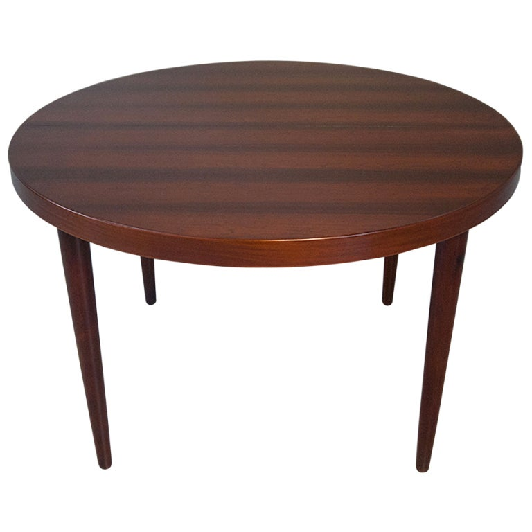 Danish modern rosewood dining table round extending 7ft at for 7ft dining room table