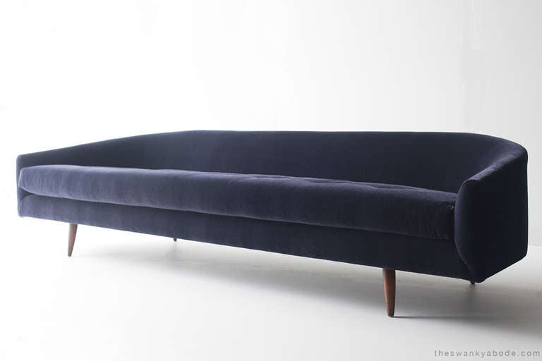 condition  This Adrian Pearsall cloud sofa is in excellent restored condition. Reupholstered with original intergrity including hand cut foam and Mohair.      designer: Adrian Pearsall  Manufacturer: Craft Associates Period/Model: Mid