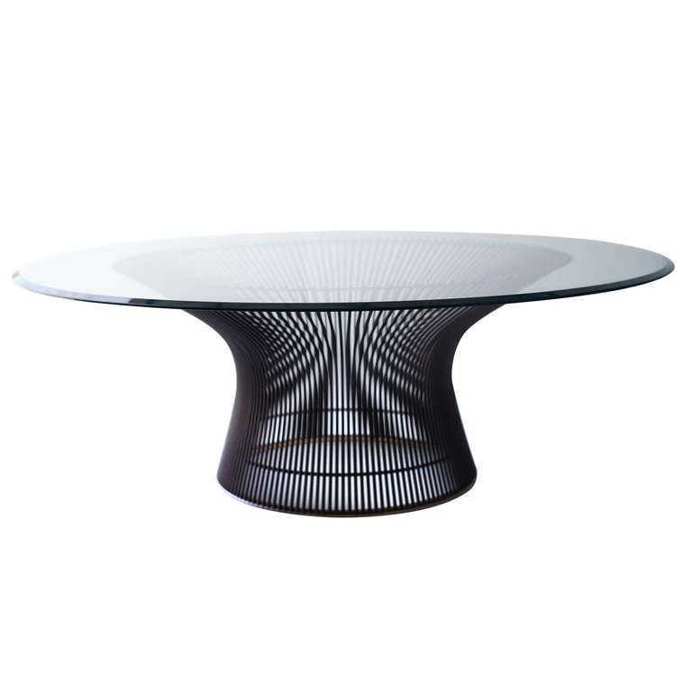 Warren platner bronze coffee table for knoll international for Warren platner coffee table
