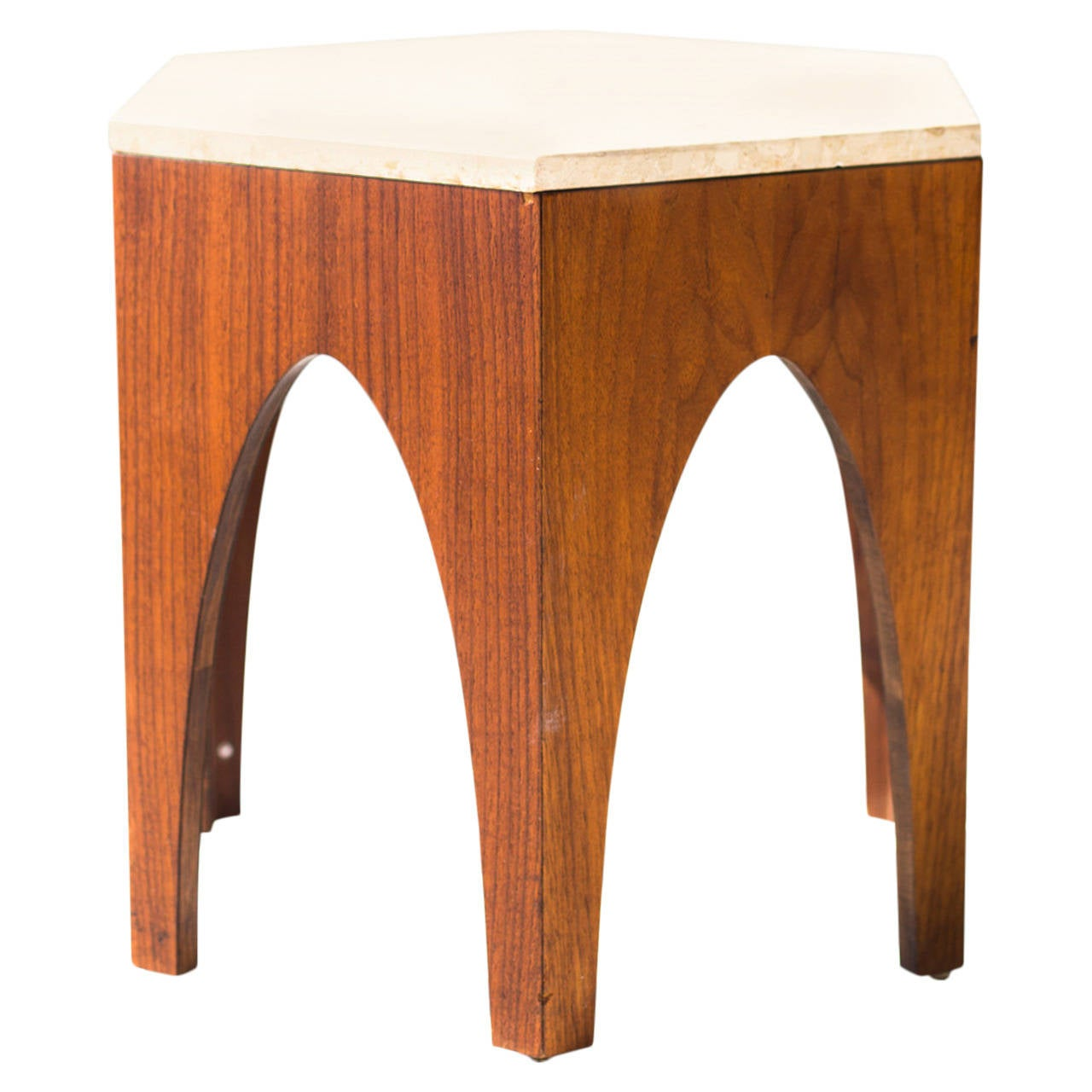 Harvey probber attributed octagon side table for sale at