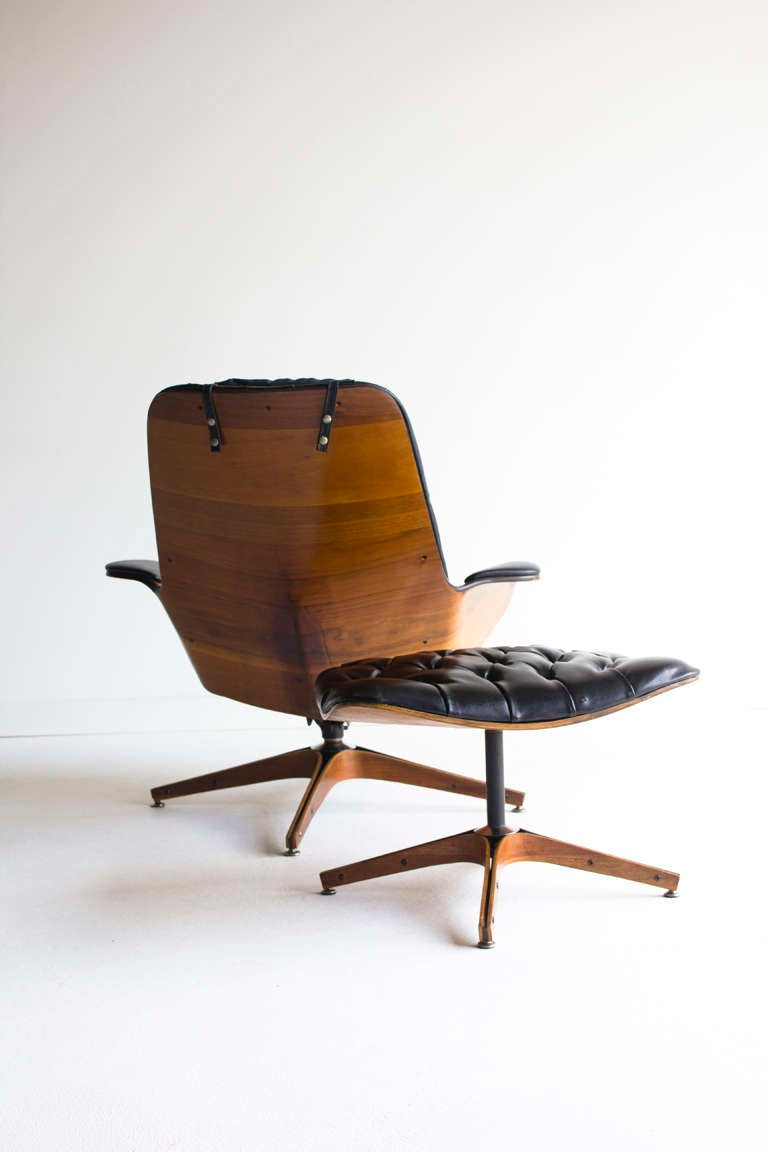 George Mulhauser Lounge Chair and Ottoman for Plycraft image 10