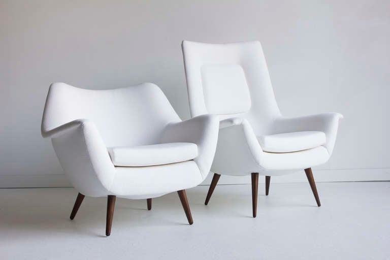 Lawrence Peabody His And Her Lounge Chairs For Selig; Holiday Group 2