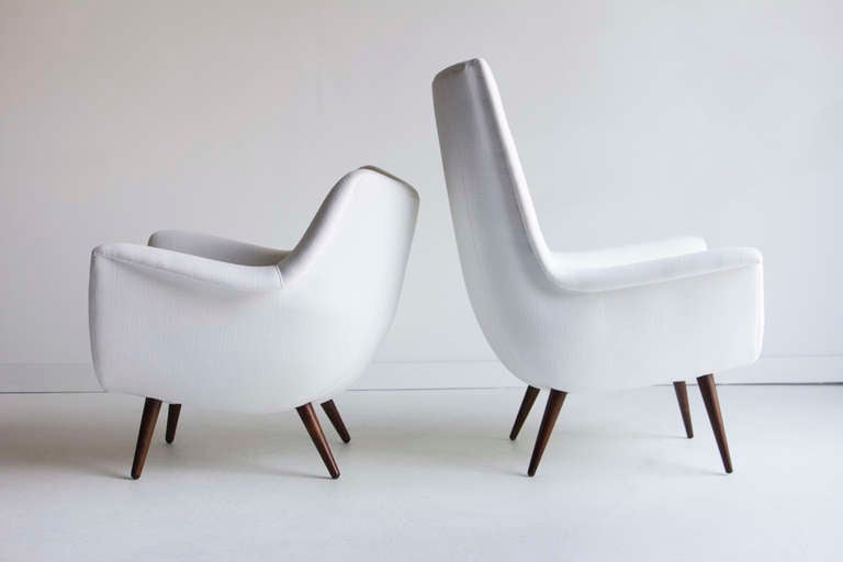 Lawrence Peabody His And Her Lounge Chairs For Selig; Holiday Group 3