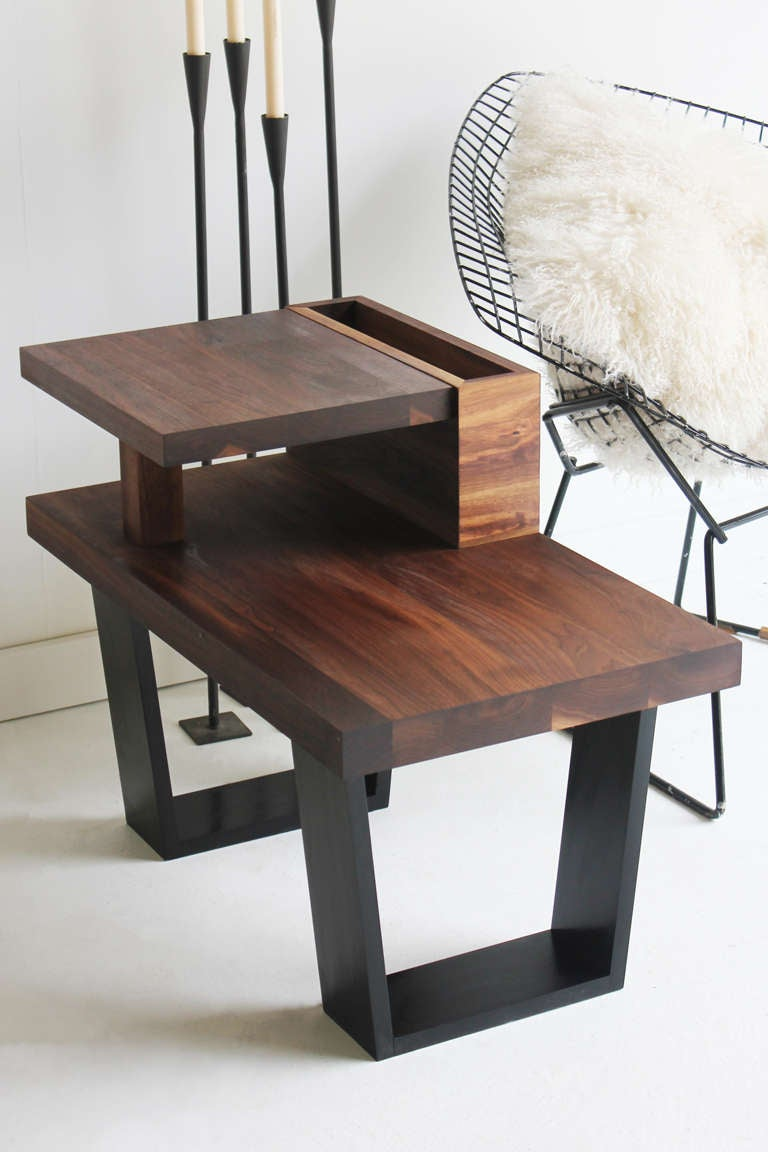 Walnut end table for sale at 1stdibs for Walnut side table