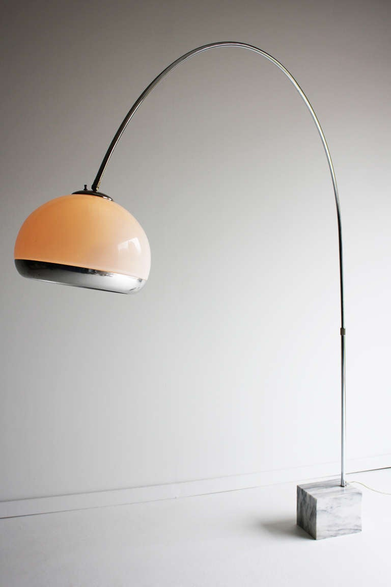 Harvey Guzzini Arc Lamp For Laurel Lighting Co At 1stdibs
