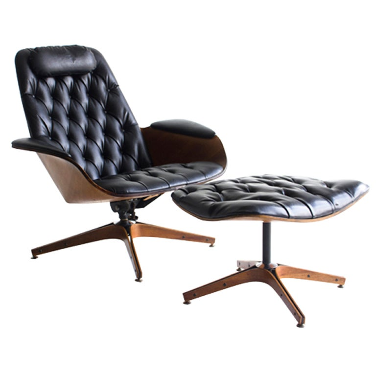 George Mulhauser Lounge Chair and Ottoman for Plycraft at 1stdibs