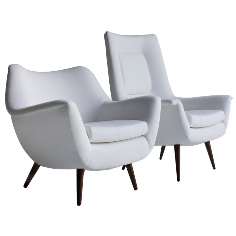 Lawrence Peabody His And Her Lounge Chairs For Selig; Holiday Group 1