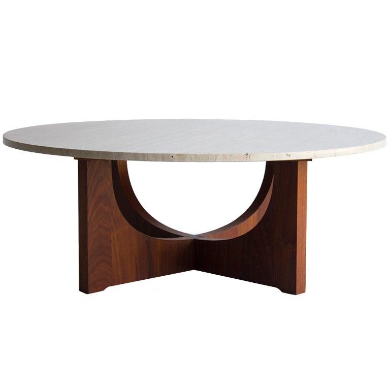 Mid Century Italian Marble Coffee Table At 1stdibs