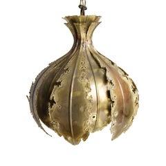 Sven Aage Brutalist Hanging Lamp for Holm Sorensen & Company