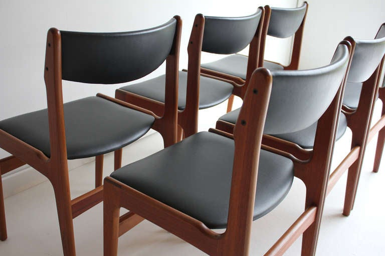 danish modern teak dining chairs erik buck style danish dining chairs
