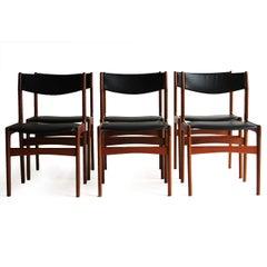 Erik Buch Style Danish Teak Dining Chairs
