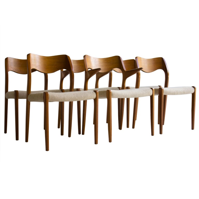 Niels Moller Teak Dining Chairs For J.L Moller Models 71 And 55 1