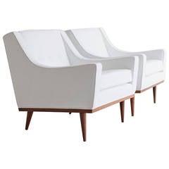 Milo Baughman Lounge Chairs for James Inc.