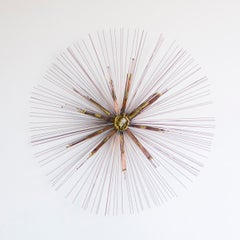 Modern Starburst Metal Wall Sculpture