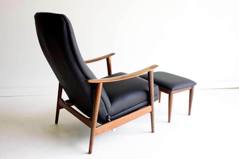 Danish Lounge Chair and Ottoman for Westnofa at 1stdibs