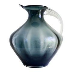 Blenko Pitcher Smoked Glass