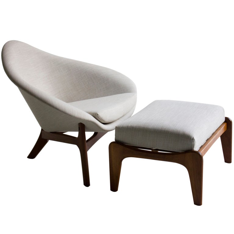 Adrian Pearsall Lounge Chair And Ottoman For Craft