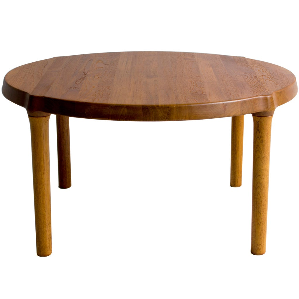 Teak Burger Coffee Table: Danish Teak Side Table For Sale At 1stdibs