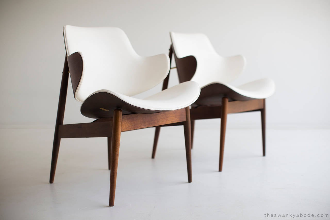 Seymour J Wiener Lounge Chairs For Kodawood At 1stdibs