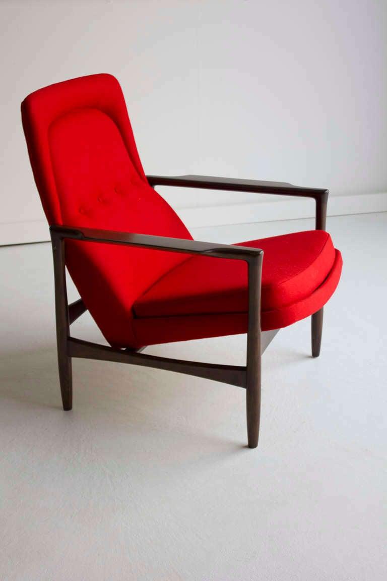 IB Kofod Larsen Lounge Chair for Selig at 1stdibs