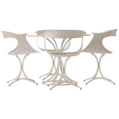 Erwin and Estelle Laverne Lotus Chairs and Table