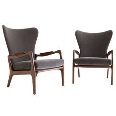 Adrian Pearsall Wing Armchairs for Craft Associates