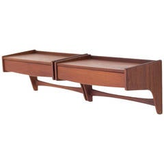 Arne Hovmand Olson Teak Floating Shelves