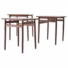 Rosewood Nesting Tables by Tove & Edvard Kindt-Larsen for Seffle Mobelfabrik