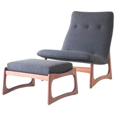 Adrian Pearsall Lounge Chair and Ottoman for Craft Associates
