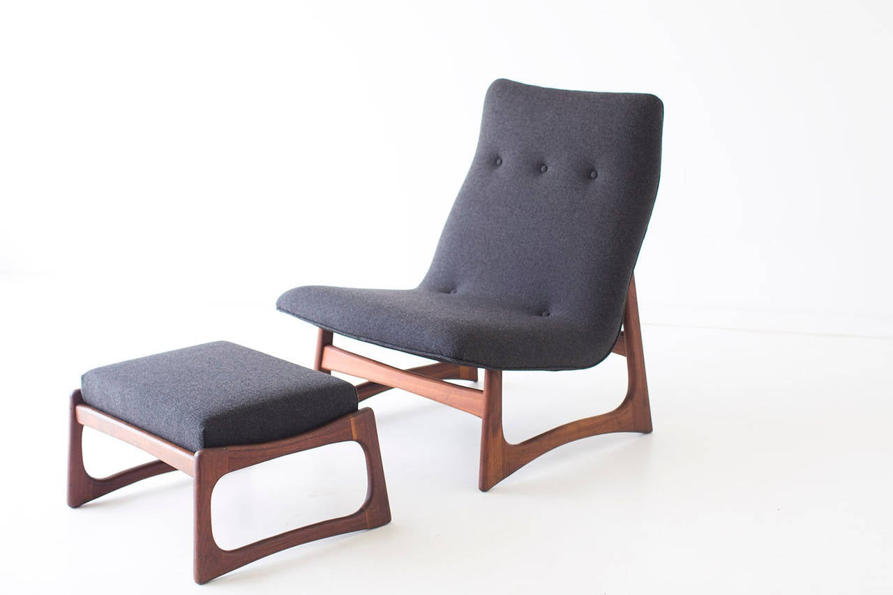 American Adrian Pearsall Lounge Chair and Ottoman for Craft Associates For Sale