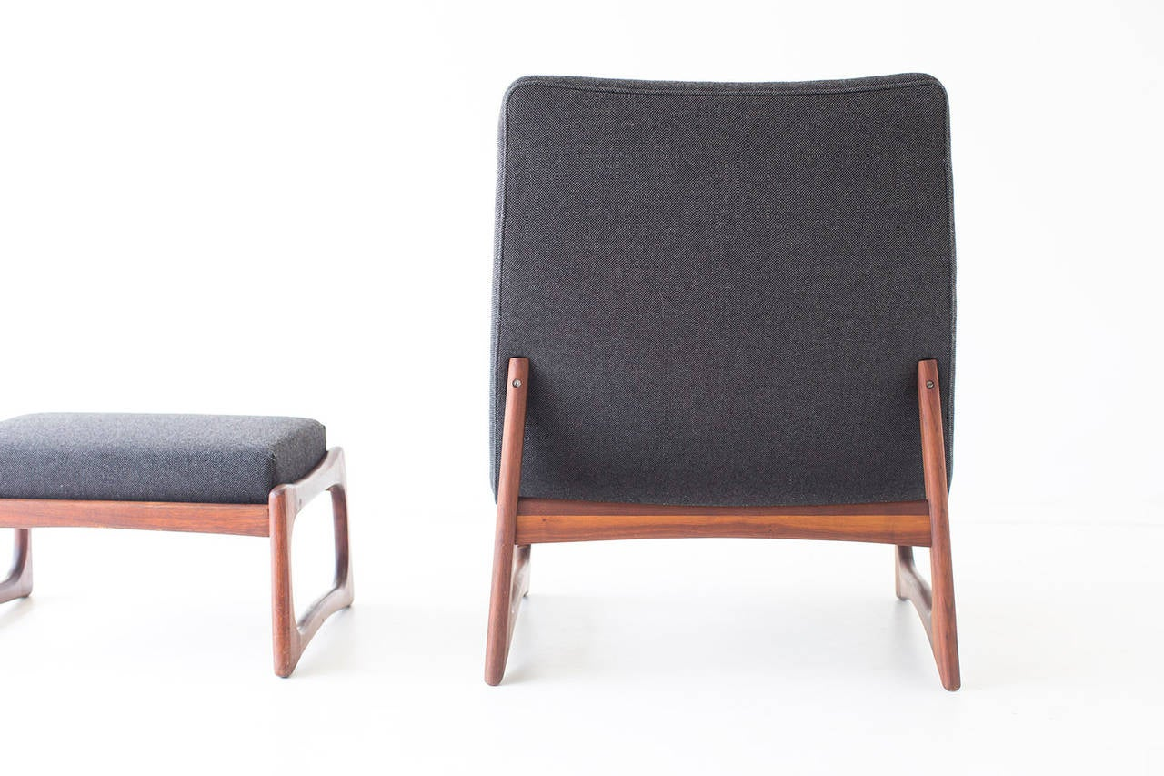 Mid-20th Century Adrian Pearsall Lounge Chair and Ottoman for Craft Associates For Sale