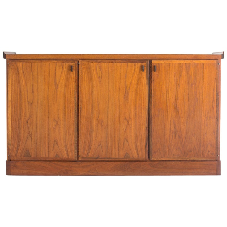 Mid-Century Walnut Credenza For Sale