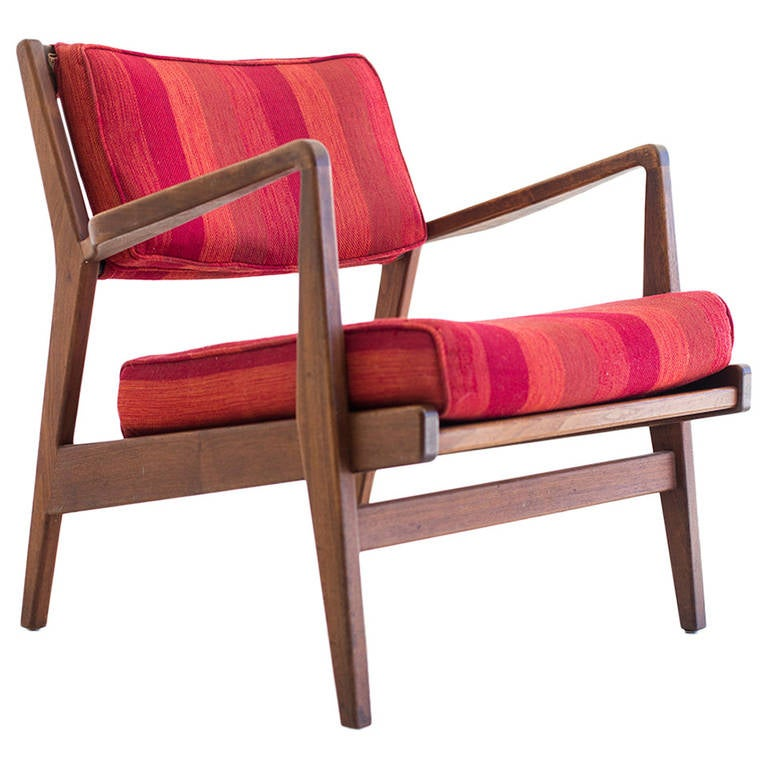 Jens Risom Lounge Chair for Risom Incorporation For Sale at 1stdibs