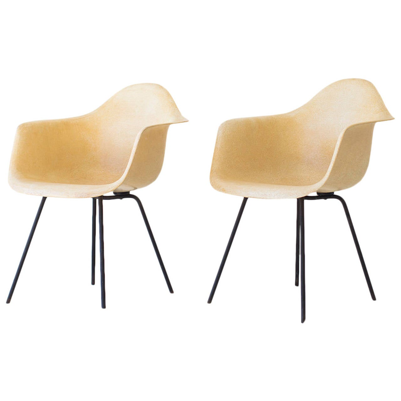 charles and ray eames early x base shell chairs for herman