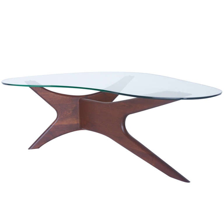 Adrian Pearsall Kidney Shaped Coffee Table For Craft
