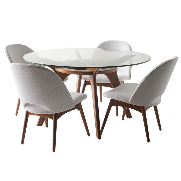 Adrian pearsall game table and chairs for craft associates for Contemporary game table and chairs