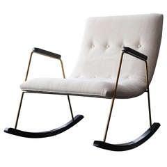 Milo Baughman Rocking Chair for Thayer Coggin